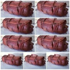 Real leather handmade travel luggage vintage overnight weekend gym duffel bag