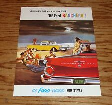 1959 Ford Truck Ranchero Pickup Sales Brochure 59