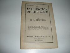 Inspiration of the Bible H.L. Hastings C.T. Russell Storrs  Watchtower Research