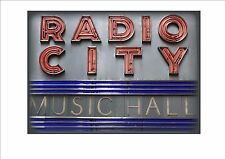 Radio City Music Hall New York City Reproduction Vintage Style Sign NYC Sign USA