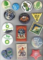 15 old PROGRESSIVE Cause pins EARTH DAY Environment etc
