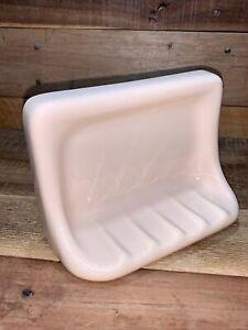 "Vintage Porcelain Peach Shower Soap Holder 6 3/4"" x 4 7/8"" Opening NEW Old"