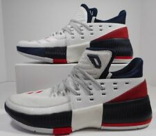 ADIDAS New Men's  Dame 3 Damian Lillard Basketball Sneaker - White Red [BY3762]
