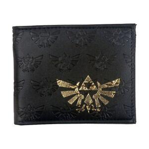 Wallet Legend of Zelda Nintendo Bifold Black Triforce Coins Cards Notes