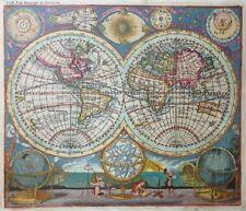 WELTKARTE WORLDMAP PLANISPHAERUM TERRARUM GEOGRAPH ET ASTRONOM BERNIGEROTH 1740