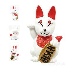 Japanese Religious Charm Maneki Kitsune Fox Collectible Figurine