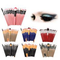 Gift 20pcs Makeup Brushes Set Powder Foundation Eye Shadow Make Up Brush Tool US