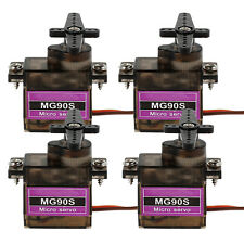4xMicro 9G MG90S Metal Gear High Speed Servo for RC Helicopter Airplane Boat Car
