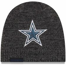 DALLAS COWBOYS NFL NEW ERA WOMENS BLACK GLITTER CHIC BEANIE SPORT KNIT HAT