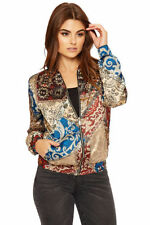 Polyester Paisley Regular Size Coats & Jackets for Women