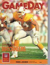 Green Bay Packers Gameday Program November 25 1990 vs Buccaneers Paul Gruber cvr