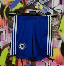 Chelsea London Football Soccer Shorts Adidas 2014 Youth size S 9-10 Years