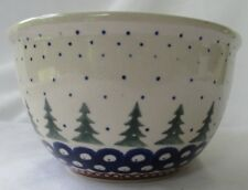 Boleslawiec Poland Christmas Pine Tree Bowl