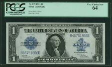 1923 $1 SILVER CERTIFICATE BANKNOTE FR-239 CHOICE UNCIRCULATED CERTIFIED PCGS-64