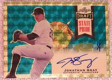 Jonathan Jon Gray #1/1 2013 Leaf Draft State Pride Super Prismatic Holiday Auto