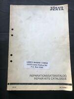 1985 Volvo Penta Parts Catalog Repair Shop Manual Pub 4029 Repair Kits Catalogue