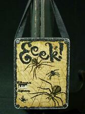 "Vintage Primitive Style ""Eek"" Spider Halloween Countdown"