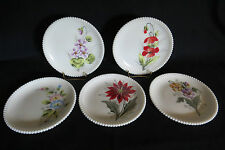 Westmoreland Milk Glass  Plates Hand Painted Flowers (5)