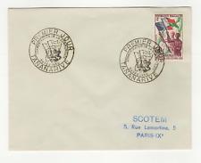 République Malgache 1timbre sur lettre FDC 1959 tampon Tananarive /L543