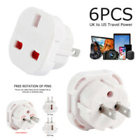 6 X Uk To Usa Us America Australia New Zealand Tourist Travel Plug Power Adaptor