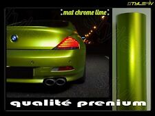 film vinyle covering mat chrome vert lime 152 x 30 cm thermoformable adhésif