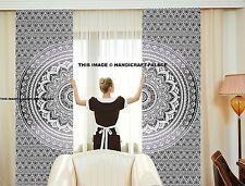 Indian Mandala Ombre Window Treatment Cotton Curtains Drape Room Decor Curtains