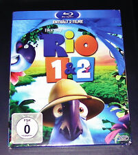 RIO 1 & Rio 2 Fiebre 1&2 Doble Blu-Ray Más Rápido Envío NUEVO Y EMB. orig.