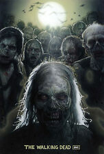 """The Walking Dead 1 2 3 4  TV Zombie Fabric Poster 20"""" x 13"""" Decor 23"""
