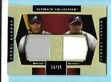 2003 Ultimate Collection Andruw Jones Rafael Furcal Dual game Jersey Braves /25
