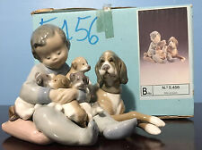 "LLADRO #5456 ""New Playmates"" -  Retired in 2005 - MIB"