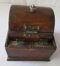 Antique wood cigarette holder dispenser barrel