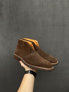 Crockett Jones for Barneys New York chukka high boot suede leather size 11D