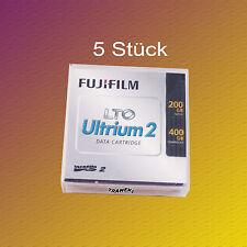 5 Stück, Fuji LTO 2, 200/400 GB, Data Cartridge Datenkassette, NEU & OVP