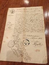Authentic Antique French Birth Certificate Document, Issue Date 1828
