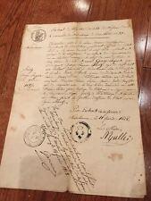 Auténtico Francés Antiguo Certificado de Nacimiento Documentos, Issue Date 1828