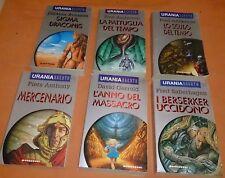 LOTTO 6 LIBRI URANIA ARGENTO N.4,5,6,7,8,14 MONDADORI