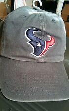 New NFL 47 BRAND SAMPLE Adult cap Houston Texans Football Logo GREY Cap OSFA