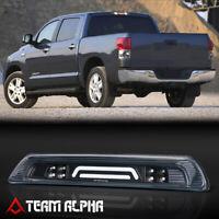 Fits 2007-2018 Toyota Tundra Black/Clear<3D LED BAR>Third 3rd Brake+Cargo Light