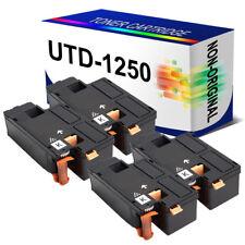 4 X Black DELL Compatiable Toner Cartridge for DELL 1250c 1350cnw 1355cn