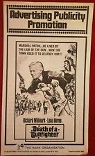 DEATH OF A GUNFIGHTER 1969 BRITISH PRESSBOOK RICHARD WIDMARK LENA HORNE