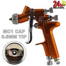 DeVilbiss SRI Pro Lite MC1 Air Cap 0.6mm Fluid Tip Gravity Air Spray Paint Gun