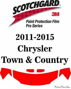 3M Scotchgard Paint Protection Film Pro Series Kits 2015 Chrysler Town & Country