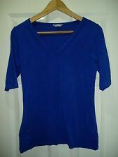 Ladies M&S Blue, Size 10, V Neck, Half Sleeve Top
