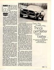 1972 PONTIAC FIREBIRD TRANS AM 455/300-HP ~ ORIG 4-PAGE ROAD TEST / ARTICLE / AD