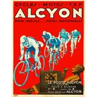 Advert Transport Alcyon Cycles Event Tour Europe France 12X16 Inch Framed Print