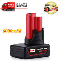 For Milwaukee M12 Lithium ion XC 6.0 Extended Capacity Battery 6.0Ah 48-11-2460