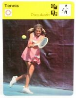 """Tracy Austin Pigtailed Mite 1978 Pro Tennis Sportscaster 6.25"""" Tall Card 22-24"""