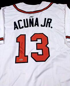 Ronald Acuna Atlanta Braves Autographed Signed Jersey XL COA