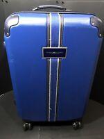 "TOMMY HILFIGER  26"" Hardcase Expendable Wheeled Spinner Luggage Dark Blue"