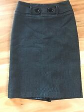LADIES CUTE BLACK & GREY LINED PENCIL SKIRT BY JACQUI E SIZE 6